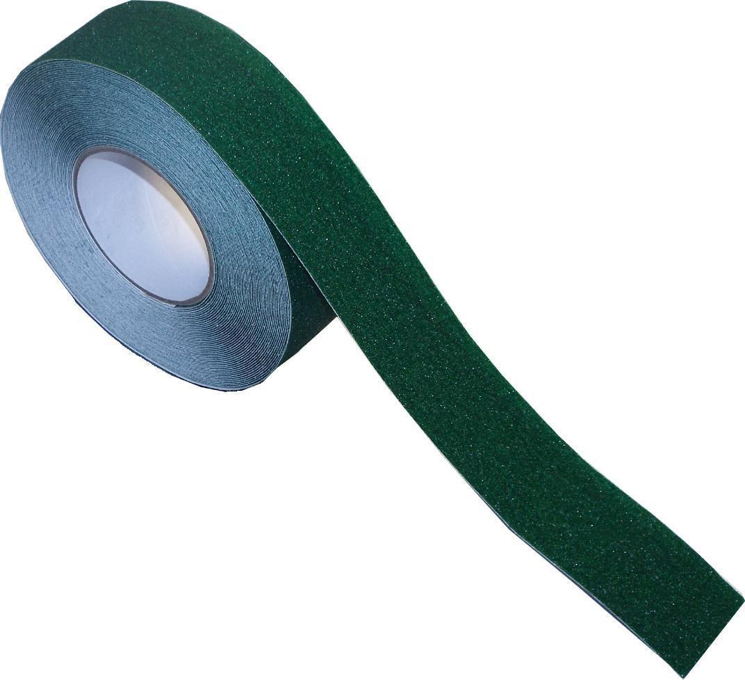 Anti-Slip Tape - 50mm wide x 18.3m long, Non-Slip Adhesive Tape - GREEN/ GREY