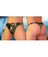 Thunderbox Nylon Spandex Chrome Gunmetal Swim Thong - Poser - S, M, L, XL - $23.00