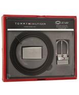Tommy Hilfiger Men's Set Reversible Leather Belt Removable Buckle 11TL08... - $29.45