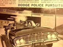 1961 vintage DODGE POLICE PURSUITS  POLICE CAR AD law order  - $24.95