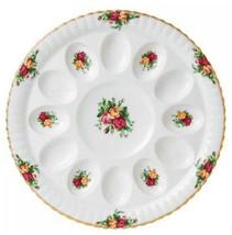 "Royal Albert Old Country Roses Deviled Egg Plate Dish Platter 11.75"" New - $54.90"