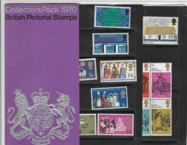 COLLECTORS PACK 1970 BRITISH PICTORIAL STAMPS , COMPLETE UNMOUNTED MINT - $11.69