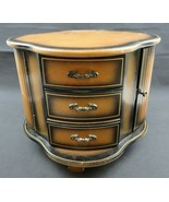 LARGE rotating Dresser Top Jewelry Box with 6 Drawers n 2 Doors n Yellow... - $160.00