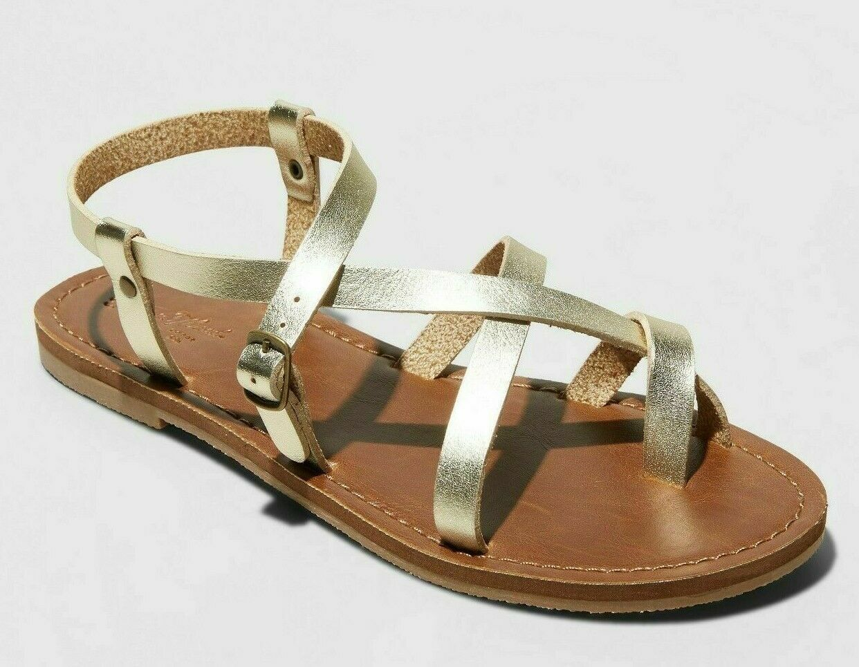Universal Thread Women's Gold Lavinia Toe Wrap Thong Summer Sandal NEW