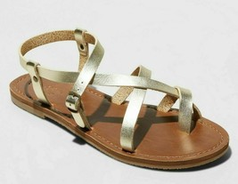 Universal Thread Women's Gold Lavinia Toe Wrap Thong Summer Sandal NEW image 1