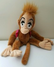 "Abu Plush Aladdin Monkey Stuffed Animal With Vest Hat 18"" Vintage 1992 D... - $25.21"
