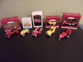 Hallmark Ornament Kiddie Car Hot Rod Fire Engine Tractor Dump Truck Lot ... - $40.00