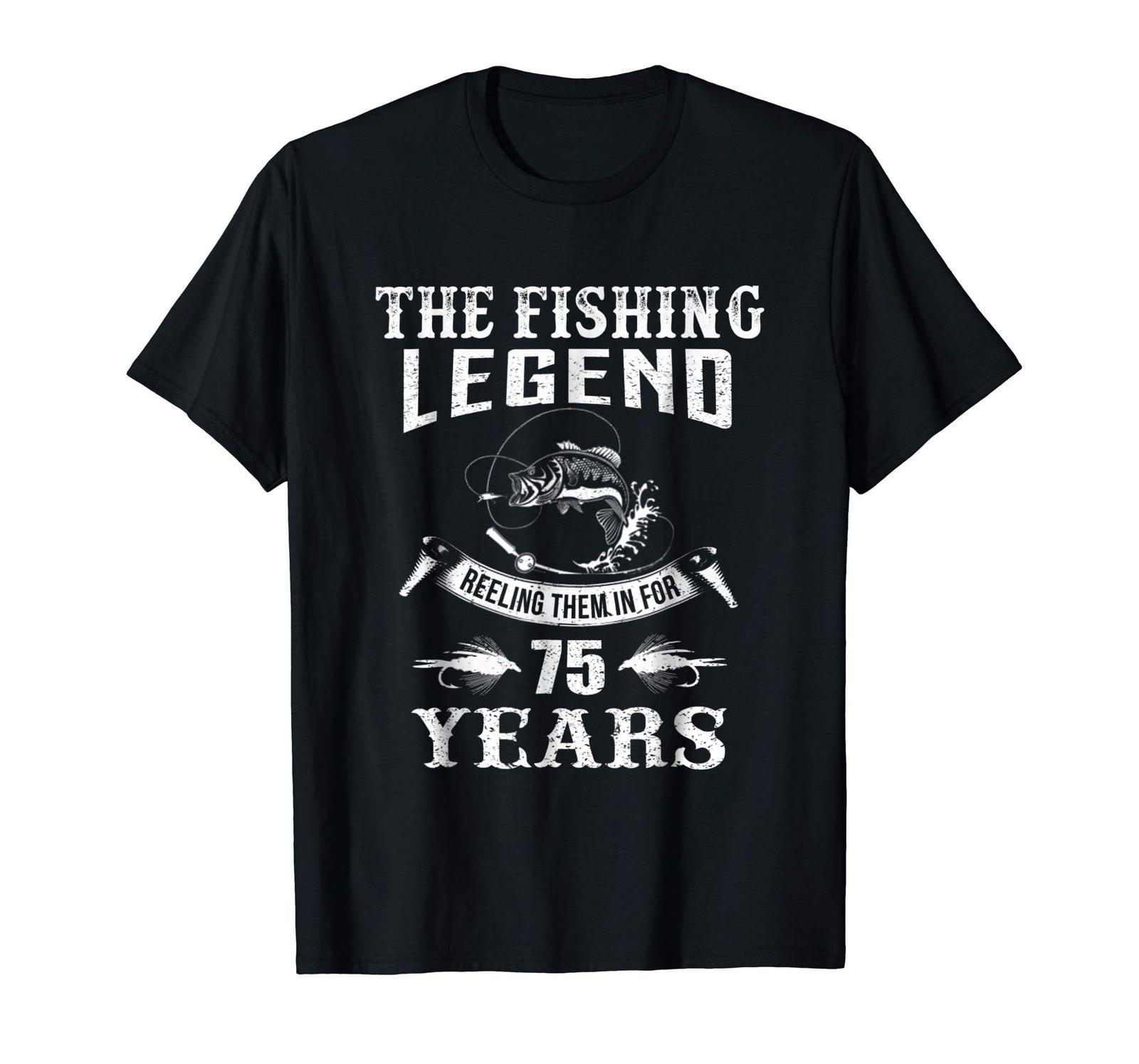 New Shirt -  Fishing Legend 75th Birthday Gifts Shirt for Fisherman Men image 4