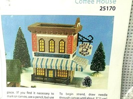 COFFEE HOUSE Plastic Canvas Kit Mary Maxim Town Building Cafe 7 x 9 x 10... - $26.68