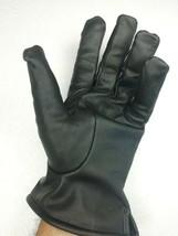 Elegante Winter Lederhandschuhe Gr. 11 = XL  Wollfutter ausgestellter Sc... - $39.06