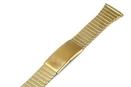 TIMEX 16-20MM STAINLESS STEEL GOLD EXPANSION FAST FIT STRAP WATCH BAND - $9.89