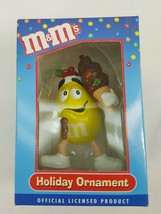 M&Ms Christmas Holiday Ornament Kurt S. Adler Yellow with Ice Cream Cone ZE16 - $4.69