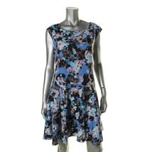 CeCe by Cynthia Steffe Womens Black Floral Print Casual Dress 10  - $34.99