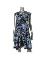 CeCe by Cynthia Steffe Womens Black Floral Print Casual Dress 10  - $34.99