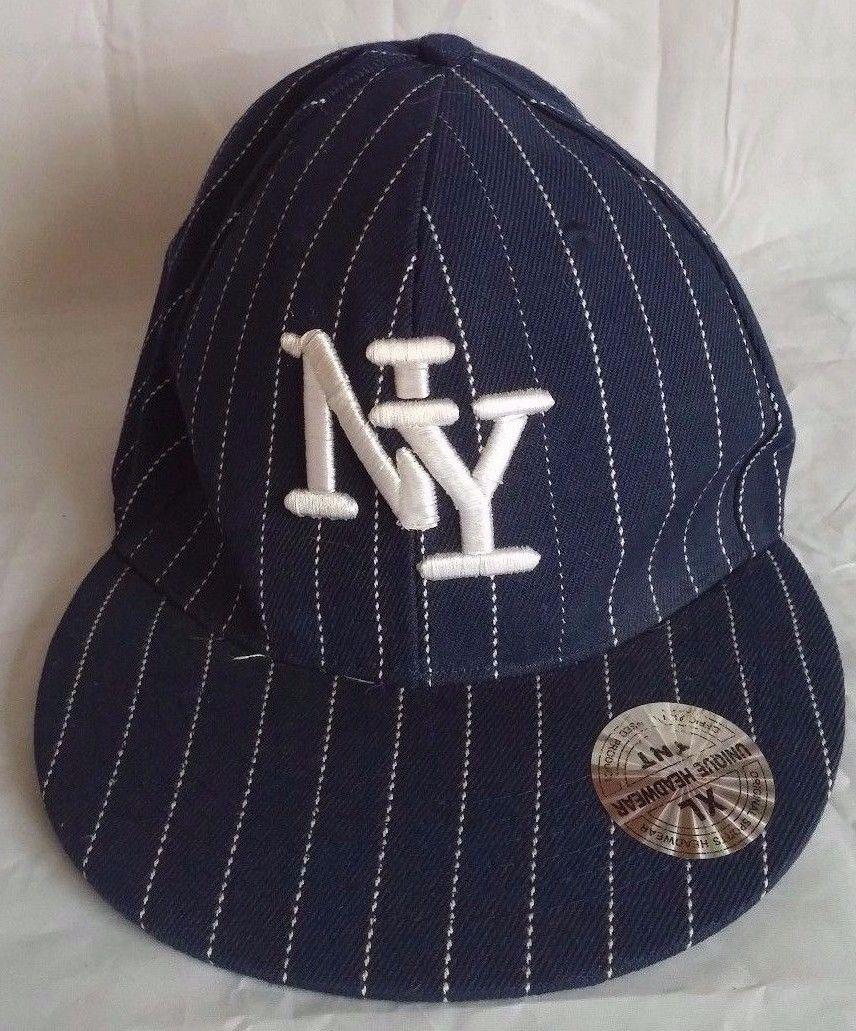 Mens Unique Headwear New York Yankees Striped Logo Baseball Hat XL TNT 59cm 73/8