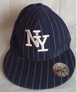 Mens Unique Headwear New York Yankees Striped Logo Baseball Hat XL TNT 5... - $16.69