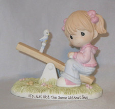 Girl Teeter Totter Precious Moments It's Just Not The Same Without You N... - $47.51