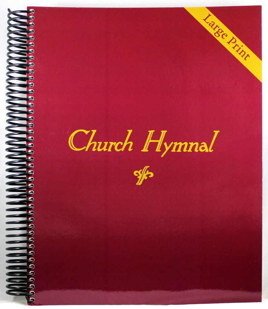Primary image for Church Hymnal LARGE PRINT Brand NEW Spiral Bound 410 Hymns Shape Note Format