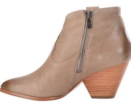Frye Women's Reina Ash Grey Leather Western Ankle Bootie 3479258-ASH NIB image 4