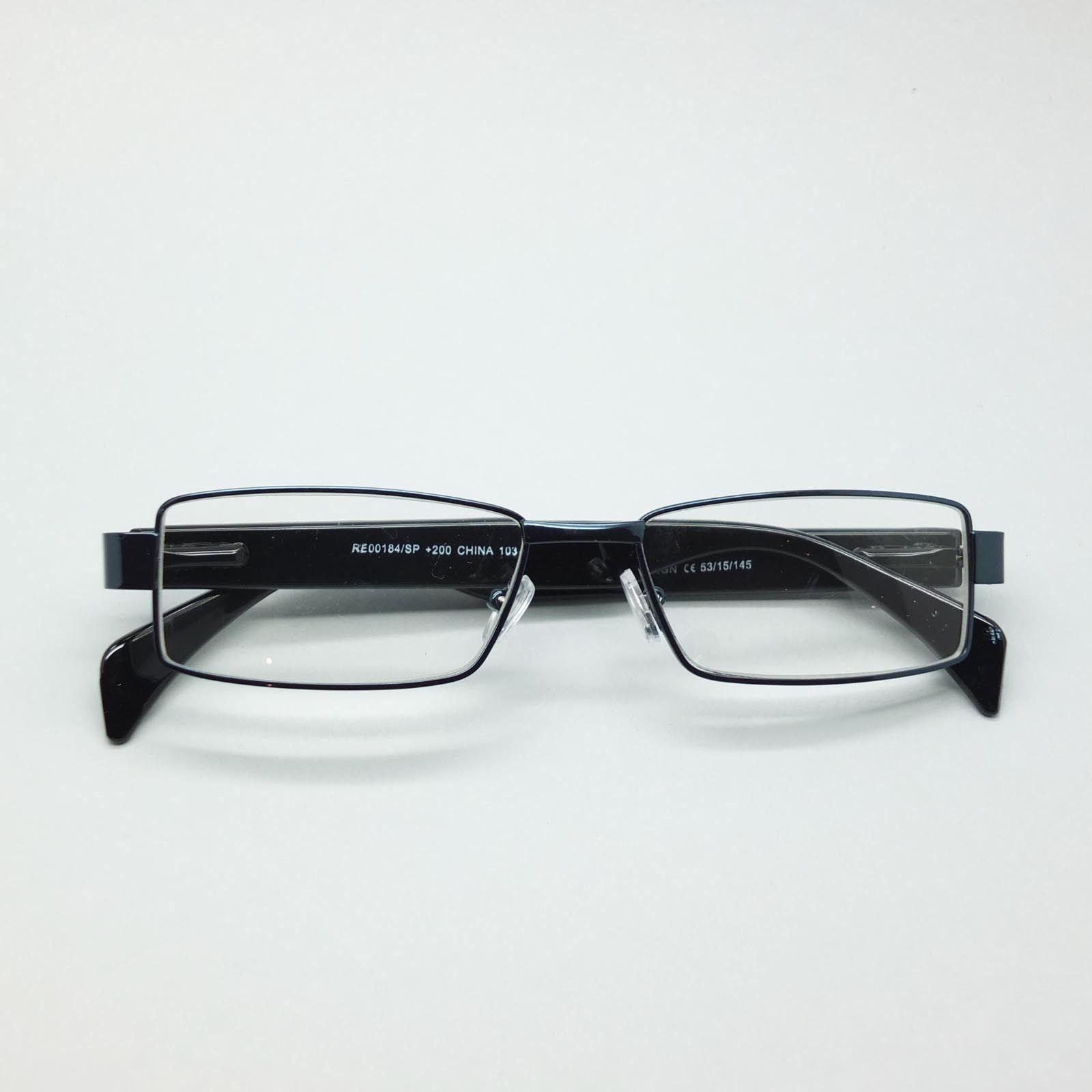 Reading Glasses Super Hi Tech Metro Metal Frame Jazz Aqua Black Detail +2.75