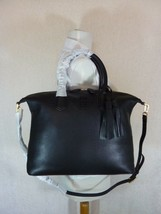 NWT Tory Burch Black Pebbled Leather McGraw Slouchy Satchel - $443.51