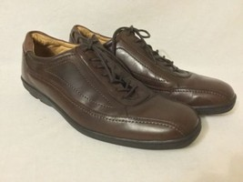 Johnston & Murphy mens Golson Runoff Lace Up oxford Shoes brown Style 207404 10M - $49.50