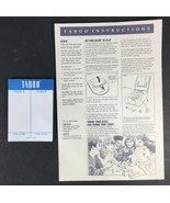 Taboo Game Unspeakable Fun Replacement Instructions Sheet Score Pad MB U... - $8.01