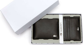 Lacoste Premium Men's FG Small Billfold Wallet Credit Card Holder NH1994FG image 7