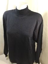 Izod Men Sweater Cotton Slim Fit Turtle Independence Blue Warm Neck Size M - $17.75