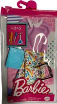 Barbie Fashion Pack Science Teacher Dress Black Framed Glasses Book GRC54 - $9.89