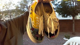 Customised Custom Hand Painted Drawn Vans Shoes Mens Size 4 By Teen Girl... - $10.00