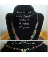 Graduated Indian Agate and Garnet Necklace - New - $25.00