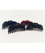 New, Large Claw Clip Set in Red, Blue, Black, and Brown - $5.88