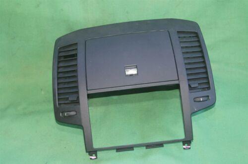 05-06 Nissan Altima Radio Dash Bezel w/ Heater AC Vents Glove Box Storage BLACK