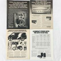 Vintage 1977 Magazine Print Ad Lot Pioneer Home Stereos HPM-100 Speakers... - $12.32