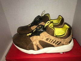 Pumas Leather Disc Cage Lux Dachshund Cork Size 11 11.5 - $145.20