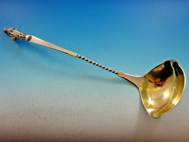 "Bust by Gorham Coin Silver Punch Ladle Gold Washed 3D Figural 17"" - $2,995.00"