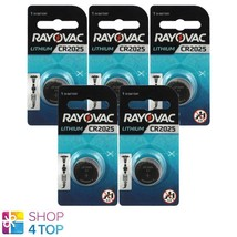 5 Rayovac CR2025 Lithium Batteries 3V Cell Coin Button Exp 2026 Indonesia New - $5.10
