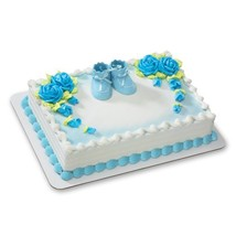 Blue Baby Booties DecoSet Cake Decoration - $9.76