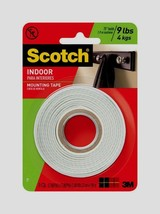 "Scotch Mounting Tape 1/2"" W x 75"" L WHITE Double Sided Foam Adhesive Cra... - £6.92 GBP"