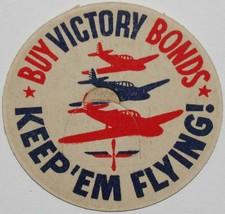 Vintage milk bottle cap BUY VICTORY BONDS Keep 'em Flying WWII planes pi... - $9.99