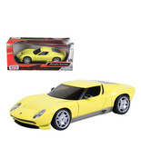 Lamborghini Miura Concept Yellow 1/24 Diecast Car Model by Motormax 73367y - $40.35