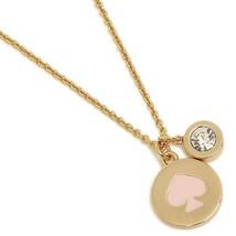 NWT Kate Spade Spot The Spade Double Pendant Necklace Pink Spade - $49.99