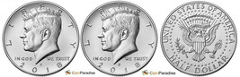 2018 P and D  BU Kennedy Half Dollar from US Mint Roll CP2446 - $4.25