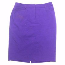 Calvin Klein Women's Classic Fitted Purple A-Line Pencil Skirt Size 4 - $9.89