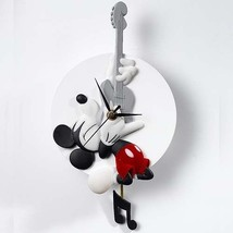 Extremely Rare! Walt Disney Mickey Mouse Playing Guitar Wall Clock Version - $151.79