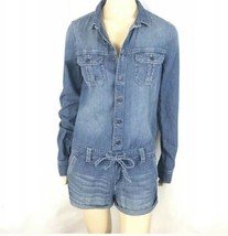 Abercrombie & Fitch Denim Romper Shorts Small - $40.74