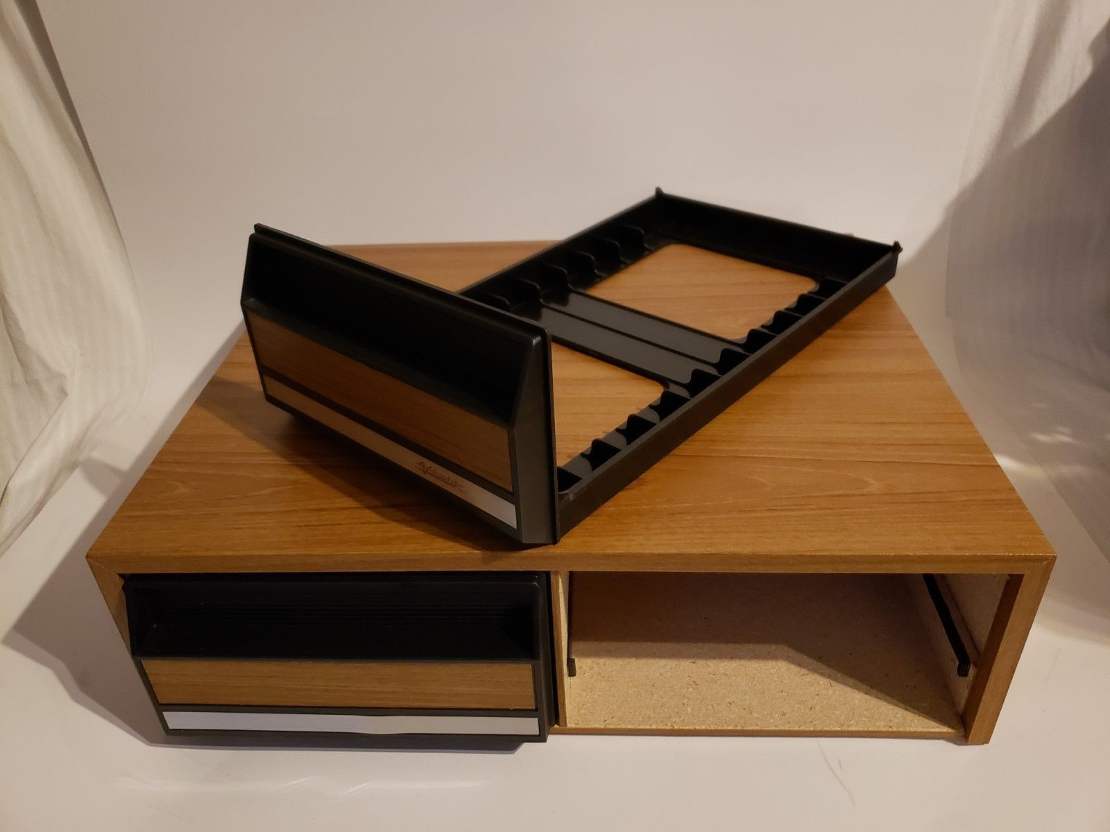 Vintage Videostak Video Cassette Cabinet Holds 24 VHS Tapes..In Original Box image 4
