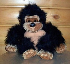 "BIG SALE Plush 14"" Fuzzy Black & Tan Gorilla Monkey Needs Happy Home WEE... - $7.59"
