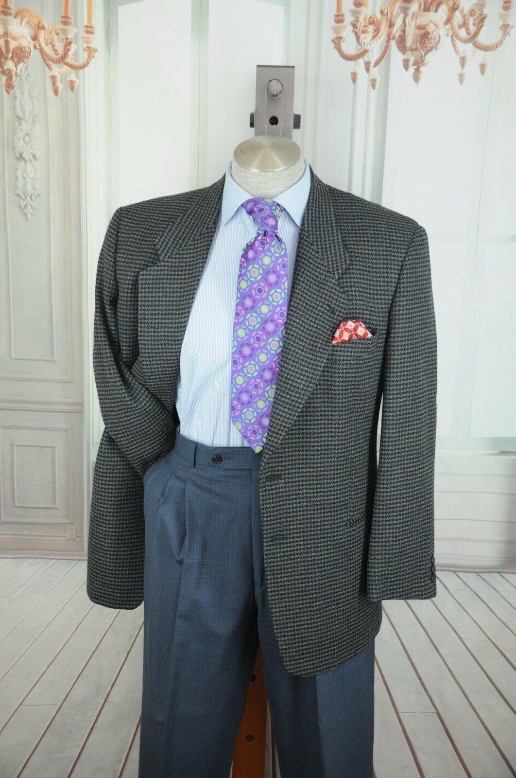 Giorgio Armani MANI Men's Black & Gray Wool Blend Sport Coat Blazer 40R 40 R